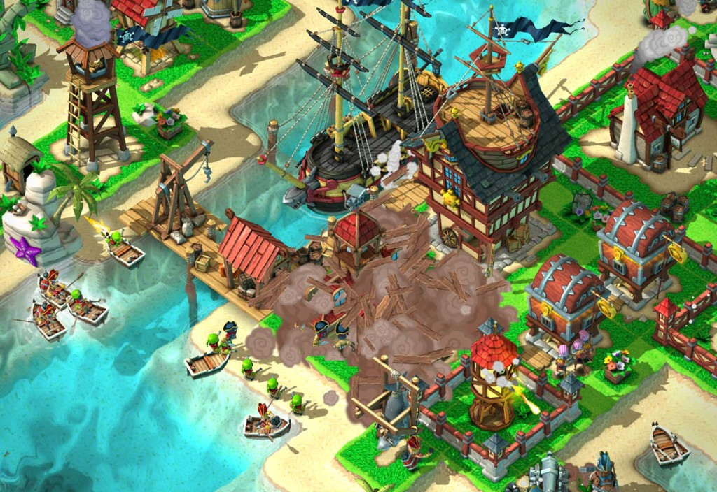 Games Like Boom Beach Plunder Pirates