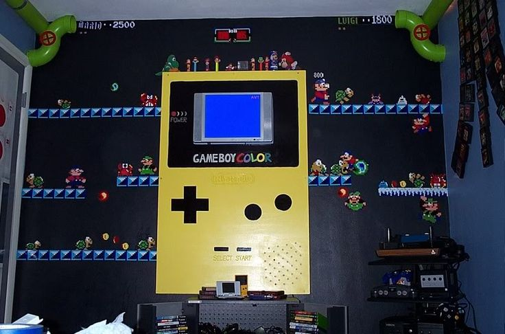 Best Video Game Rooms Theme Decors Designs Gameboy
