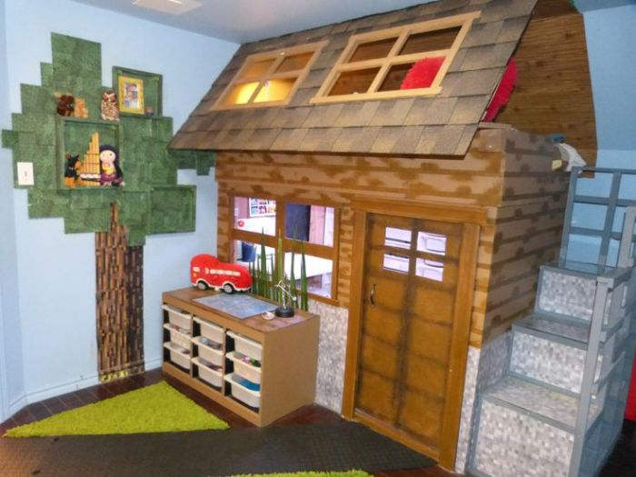 10 real life video game room decors that 39 ll amaze you for Bedroom ideas on minecraft
