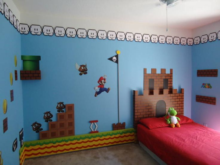 Best Video Game Rooms Theme Decors Designs Super Mario 2