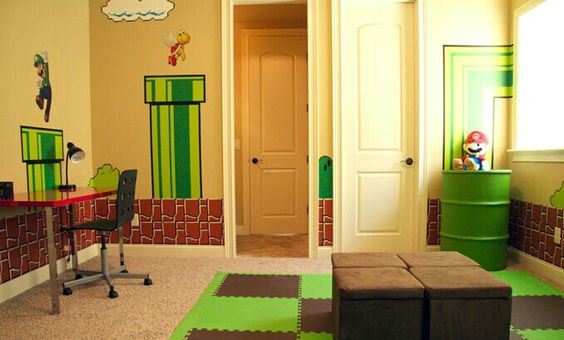 Best Video Game Rooms Theme Decors Designs Super Mario 4