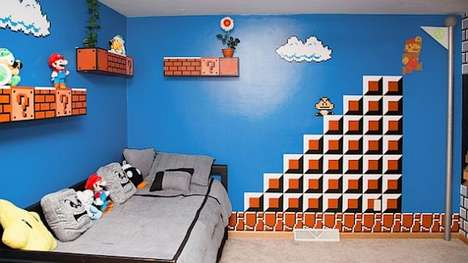 Best Video Game Rooms Theme Decors Designs Super Mario