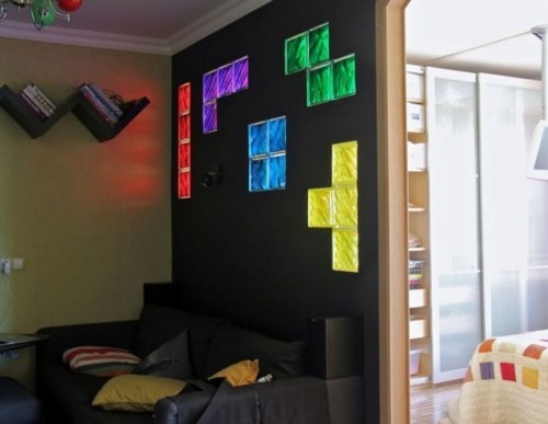 Best Video Game Rooms Theme Decors Designs Tetris 2