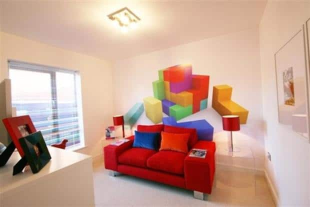 Best Video Game Rooms Theme Decors Designs Tetris 3