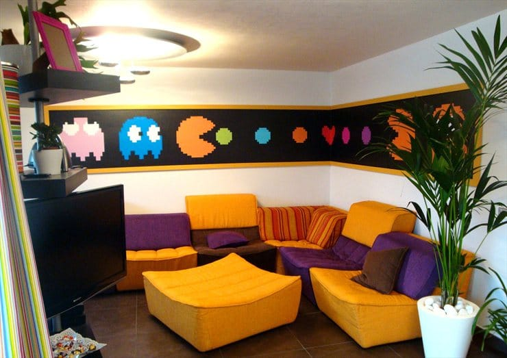 Best Video Game Rooms Theme Decors Pacman 2
