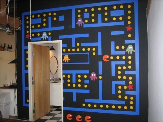 Best Video Game Rooms Theme Decors Pacman 3
