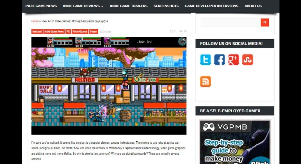 Best Gaming Blogs RETRONUKE Screenshot