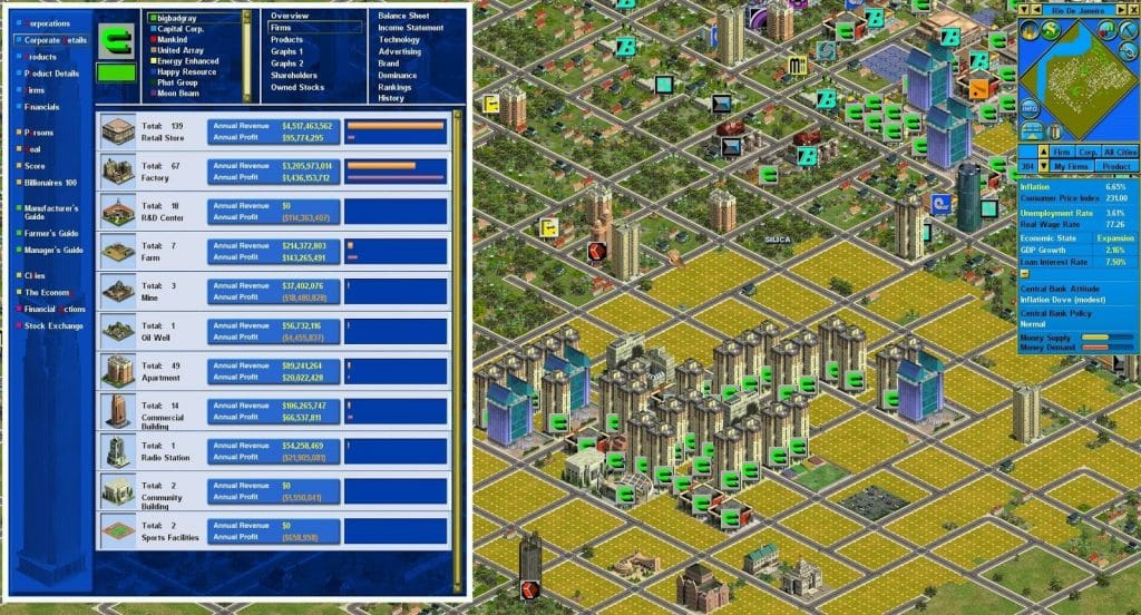 Best Tycoon Games Best Business Simulation Games Capitalism series