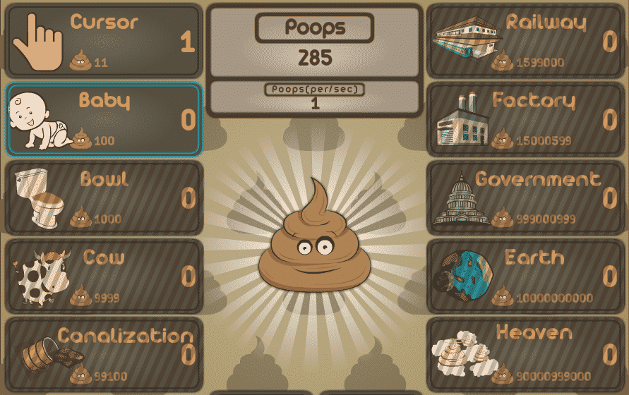 Best Idle Games Like Cookie Clicker Poop Clicker