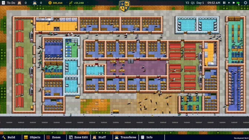 Sim Management Games Like Prison Architect Academia School Simulator
